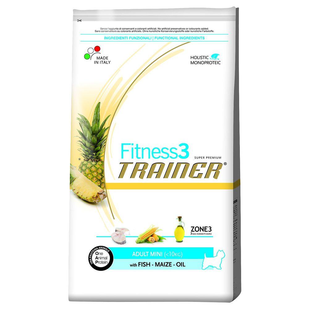 Trainer Fitness 3 Adult Mini No Gluten Salmone & Mais - 7,5 kg