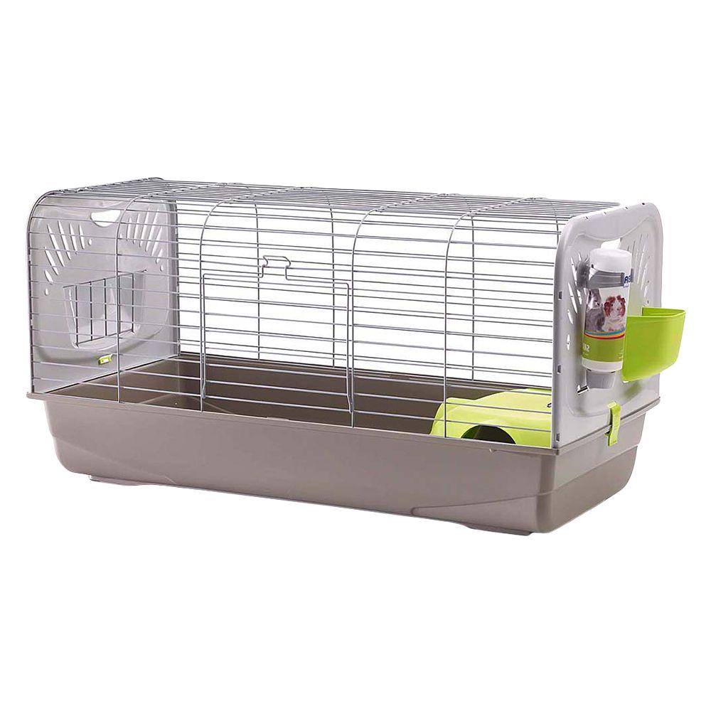 Savic Guinea Pig & Rabbit Cage Caesar 3 Deluxe - Grey: 100 x 50 x 51 cm (L x W x H)