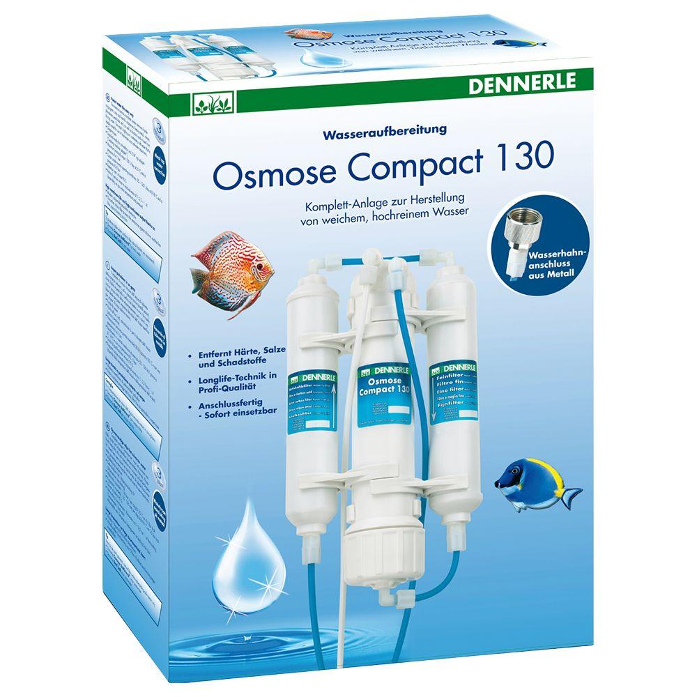 Equipo de ósmosis Dennerle Compact 130 - 1 unidad, con membrana y filtros fino/activo