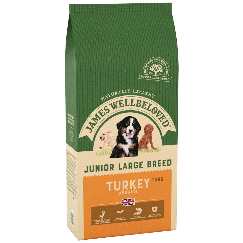 Junior Large Breed Turkey & Rice James Wellbeloved Dry Dog Food