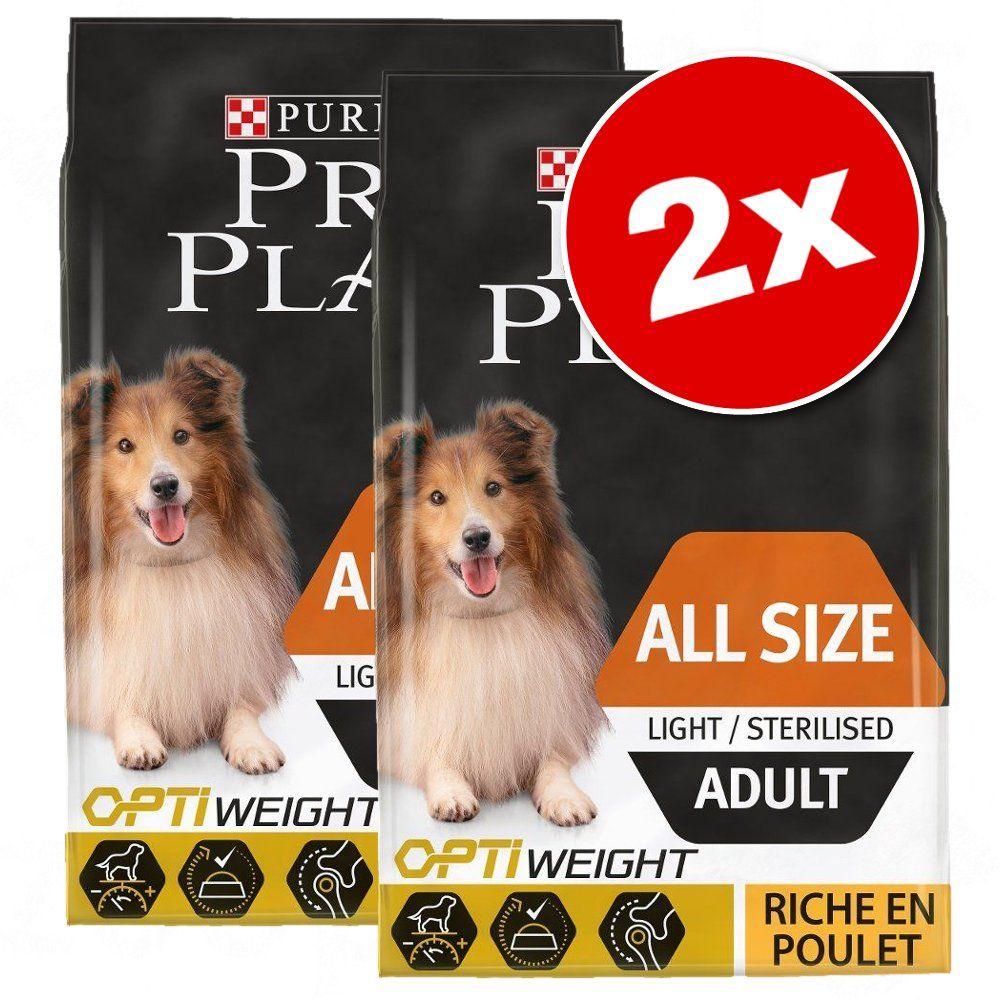 2x14 kg Large Adult Athletic Pro Plan poulet, riz - Croquettes pour chien