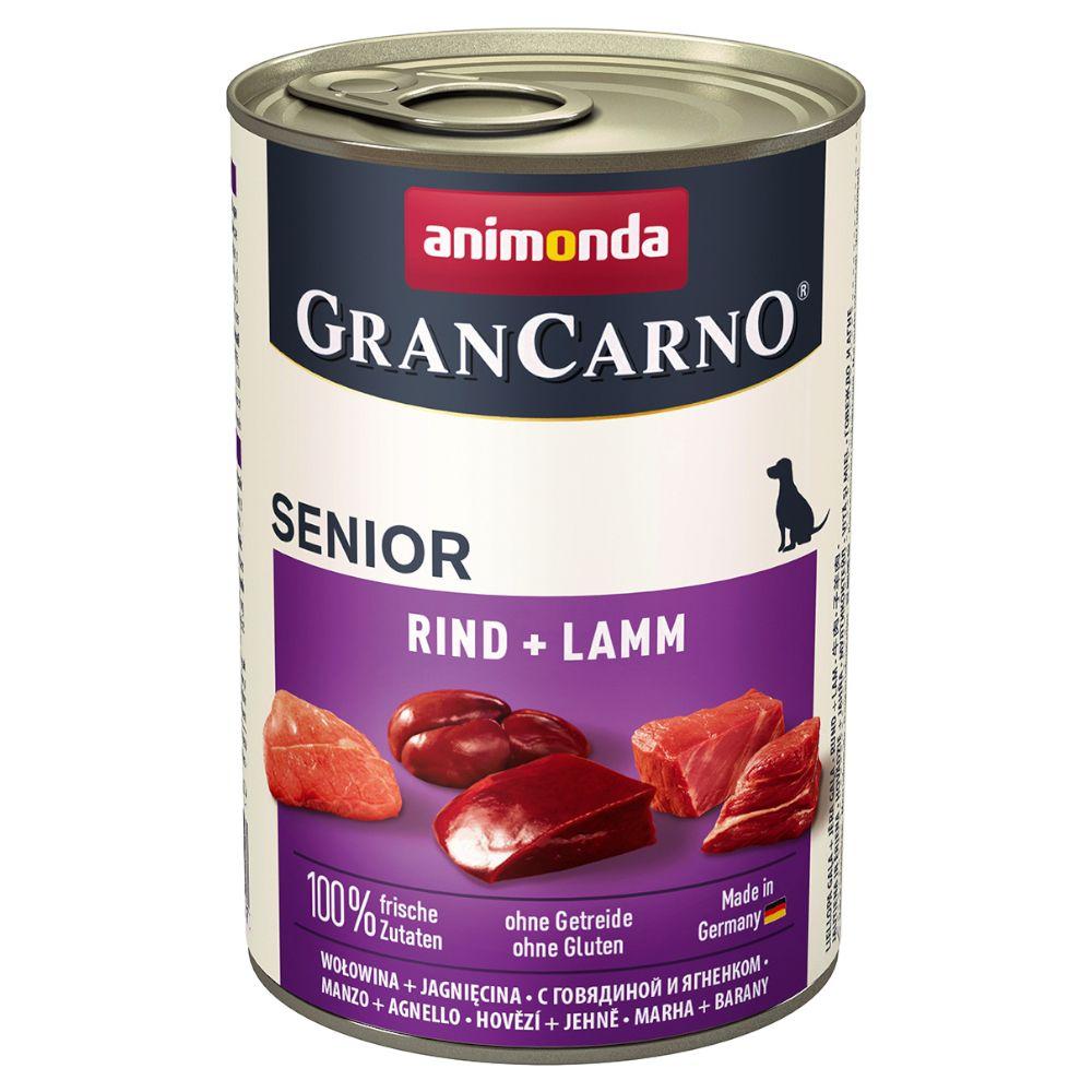 Animonda GranCarno Original Senior 6 x 400 g - Rind & Putenherzen