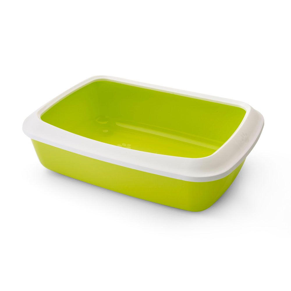 Savic Cat Litter Tray with Protective Edge - Green