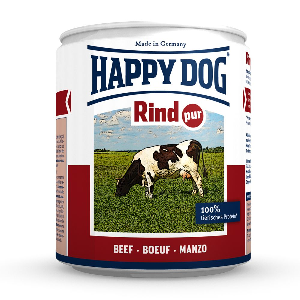 Happy Dog Pure Mixed Trial Pack 6 x 800g - 5 Varieties