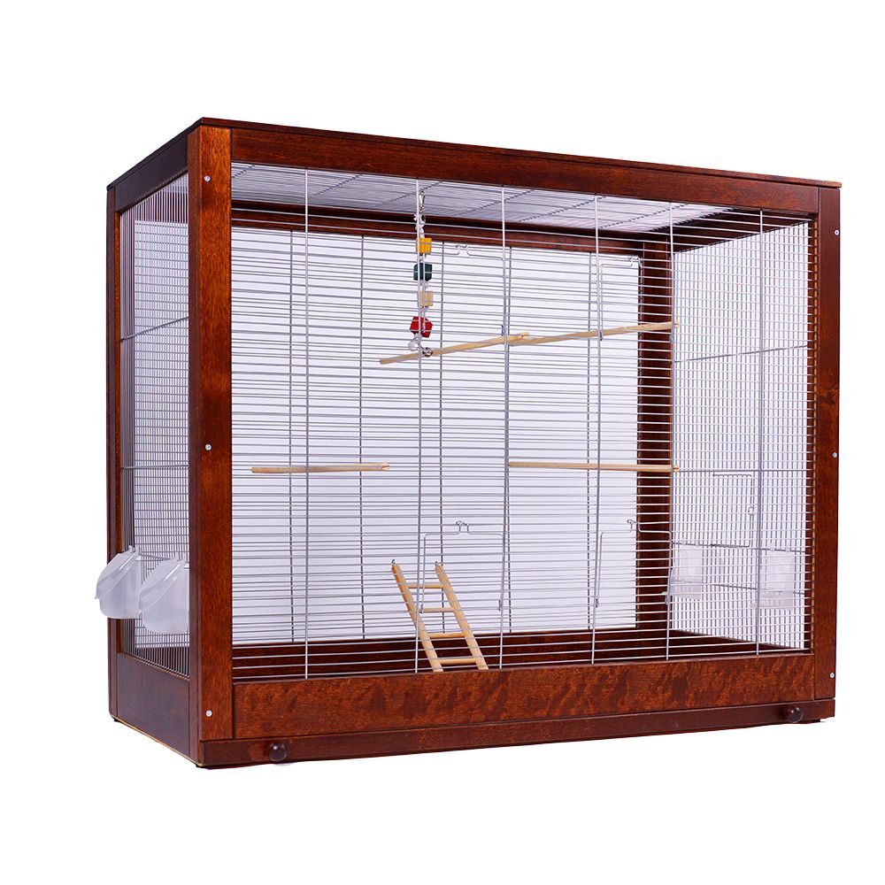 Diana is a roomy cage for budgerigars that looks more like a lovely piece of furniture than a pet cage. Diana can be opened from the front (4 doors) and to one sid...