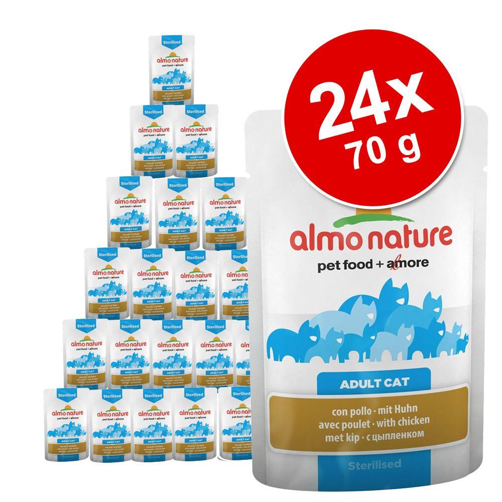 Sparpaket Almo Nature Spezialfutter 24 x 70 g - mit Kabeljau (Sterilised)