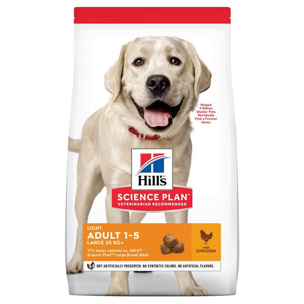18kg Chicken Large Breed Light Advanced Fitness Adult Hill's Science Plan Dry Dog Food