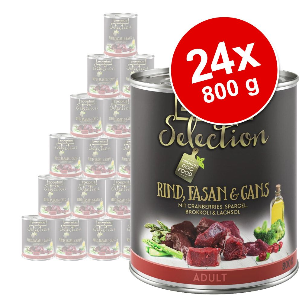 Foto zooplus Selection 24 x 800 g - Adult Manzo, Selvaggina & Anatra Set Risparmio