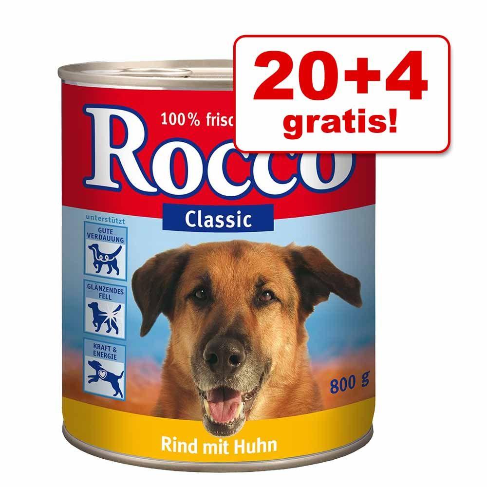 20 + 4 gratis! Rocco mokra karma dla psa, 24 x 800 g - Mieszany pakiet I