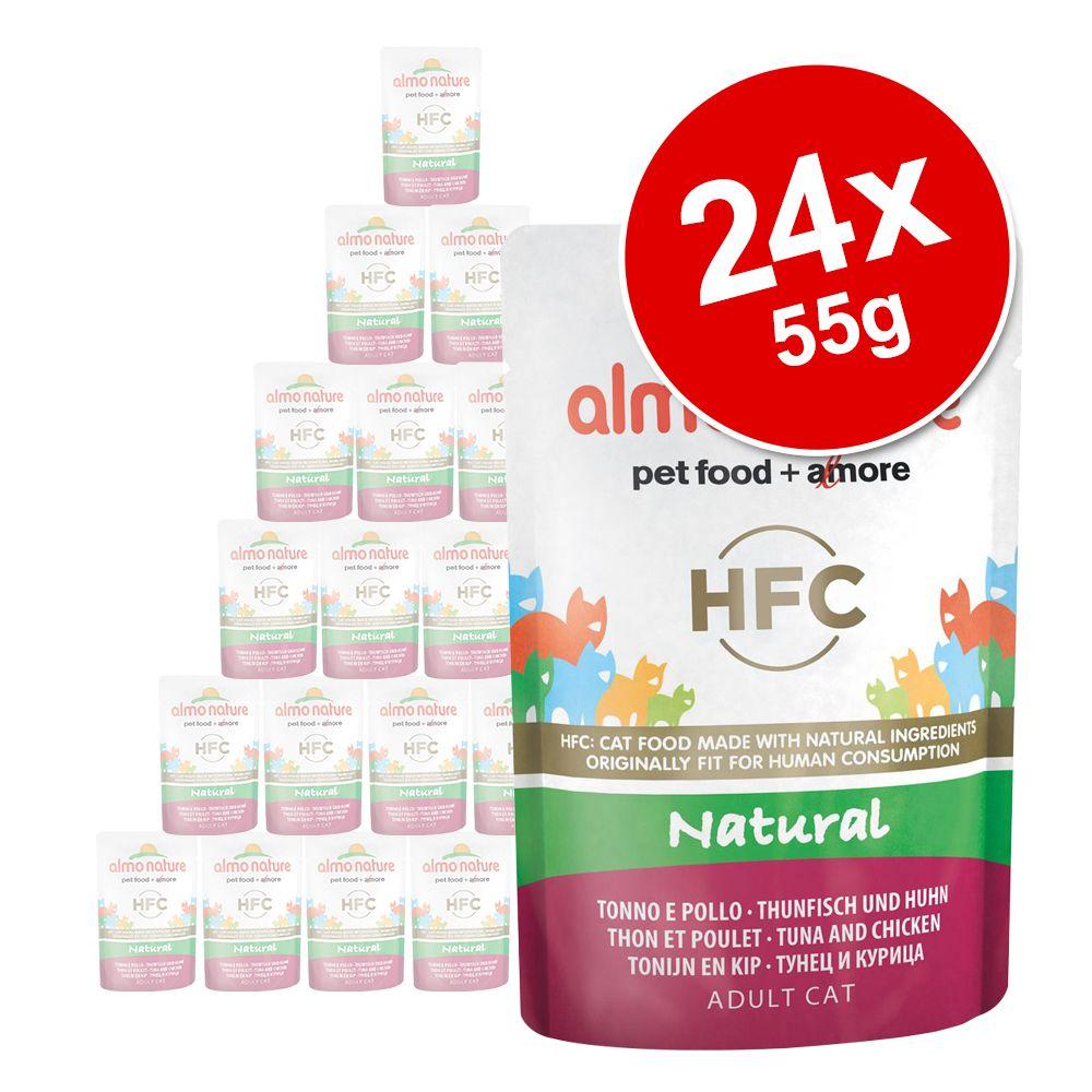 Ekonomipack: Almo Nature HFC Natural Pouch 24 x 55 g - Kycklingfilé
