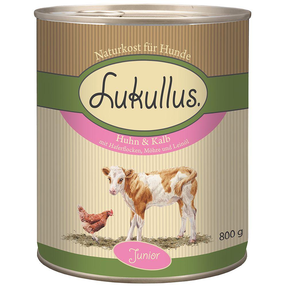 Lukullus Junior, kurczak z cielęciną - 6 x 800 g