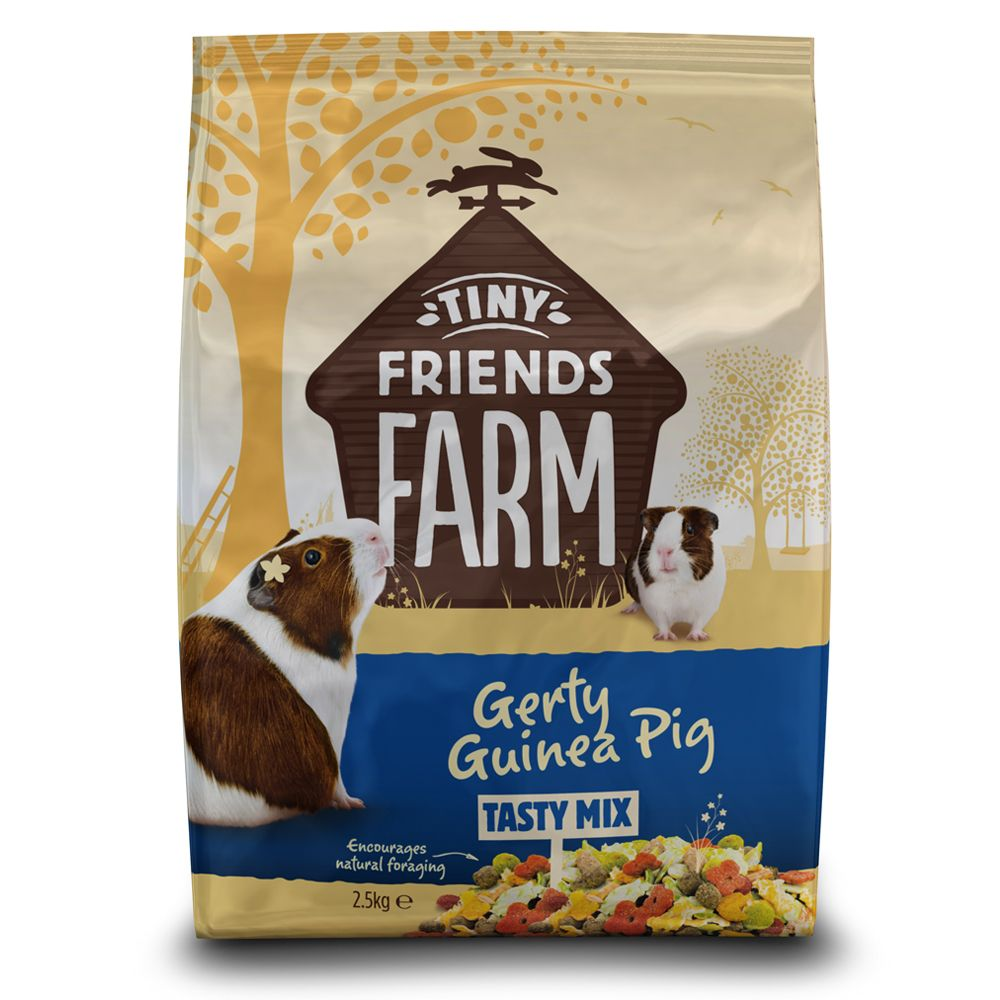 Tiny Friends Farm Gerty Guinea Pig Tasty Mix marsvinsfoder – 2 x 2,5 kg