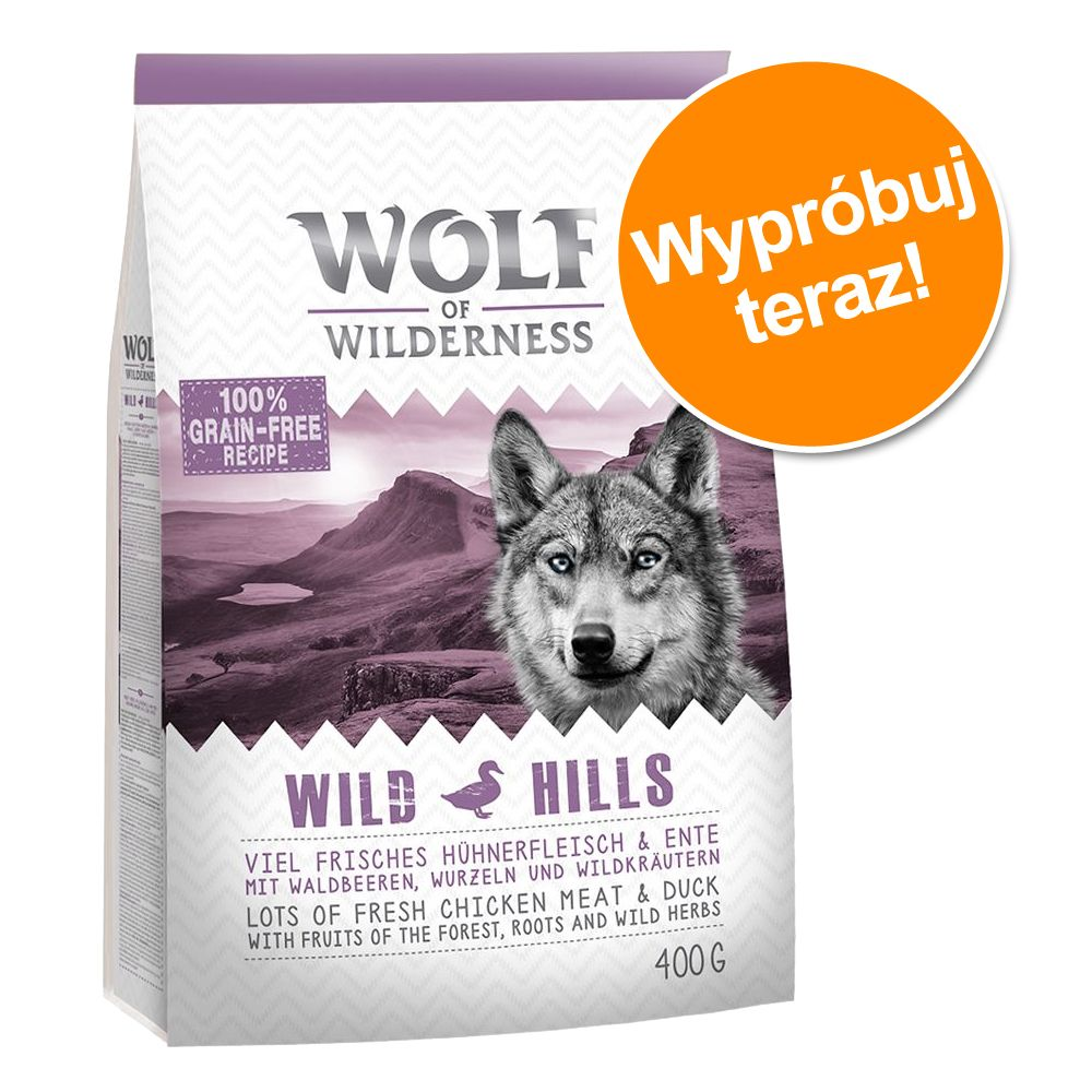"Pakiet próbny, Wolf of Wilderness ""Wild Hills"", 400 g - 400 g"