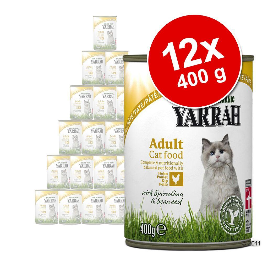 Sparpaket Yarrah Bio Pâté 12 x 400 g - Mixpaket...