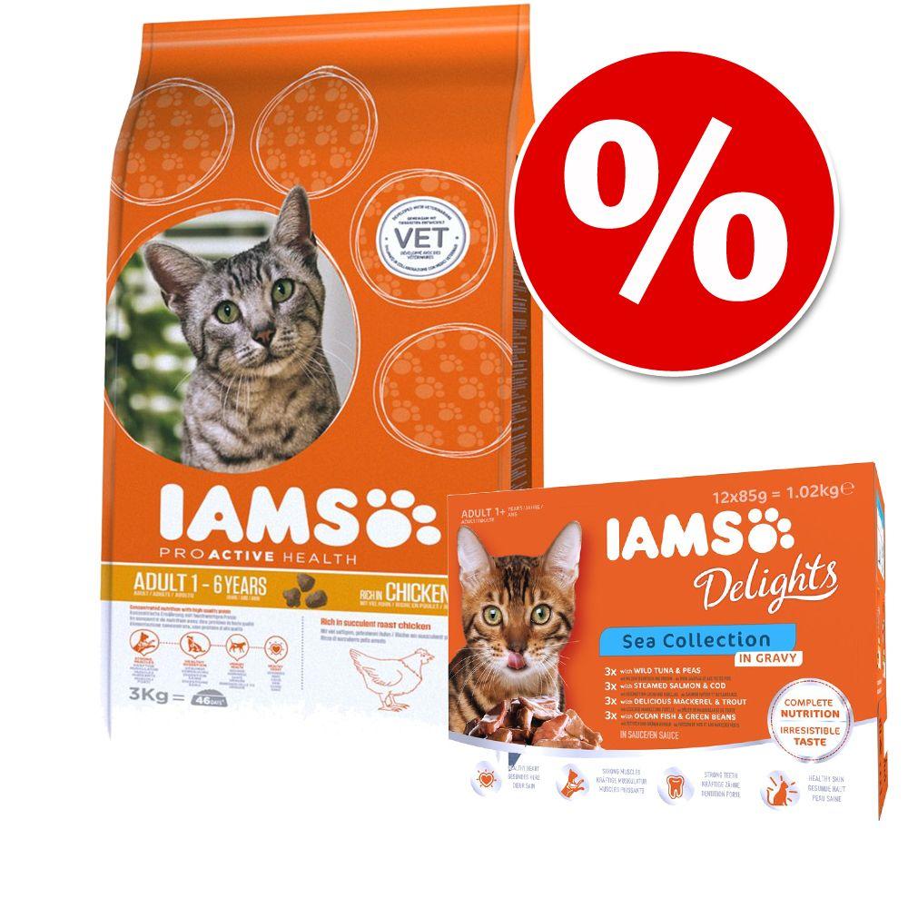 Trocken- & Nassfutter IAMS Delights Mischpaket ...