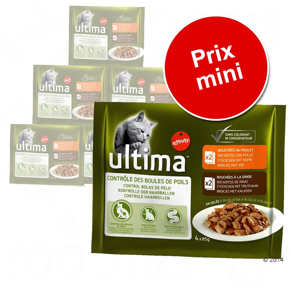 Pack gourmand : lot mixte Ultima pour chat - pack gourmand Ultima 12 x 85 g