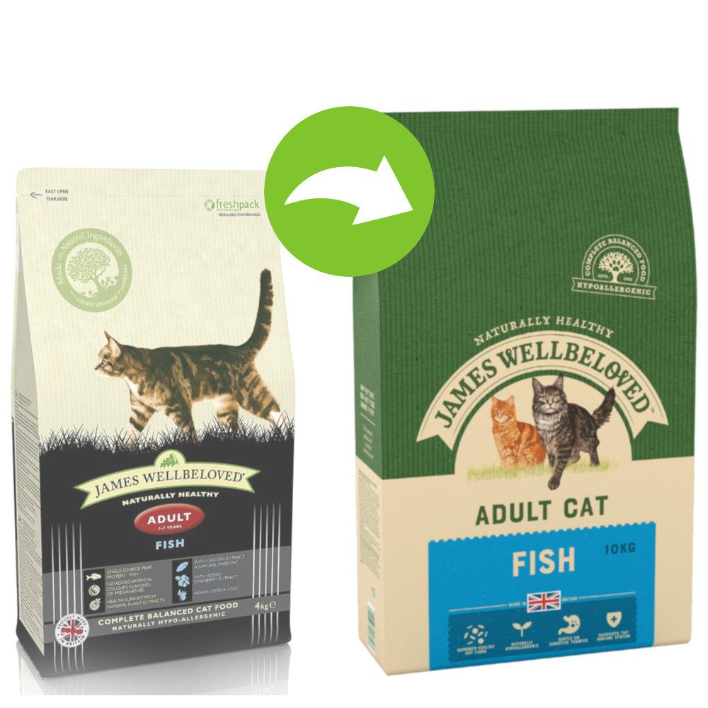 James Wellbeloved Adult Fish & Rice - Ekonomipack: 2 x 10 kg