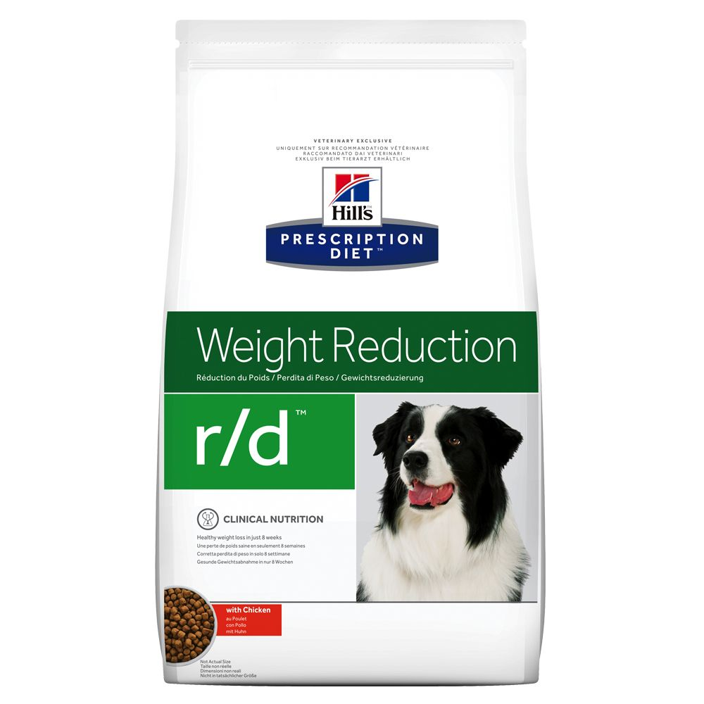 Hill's Prescription Diet r/d Weight Reduction hundfoder med kyckling - 4 kg
