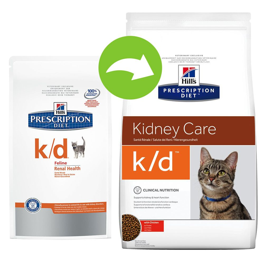 Hill's Prescription Diet Feline k/d Kidney Care - nerki - 2 x 5 kg