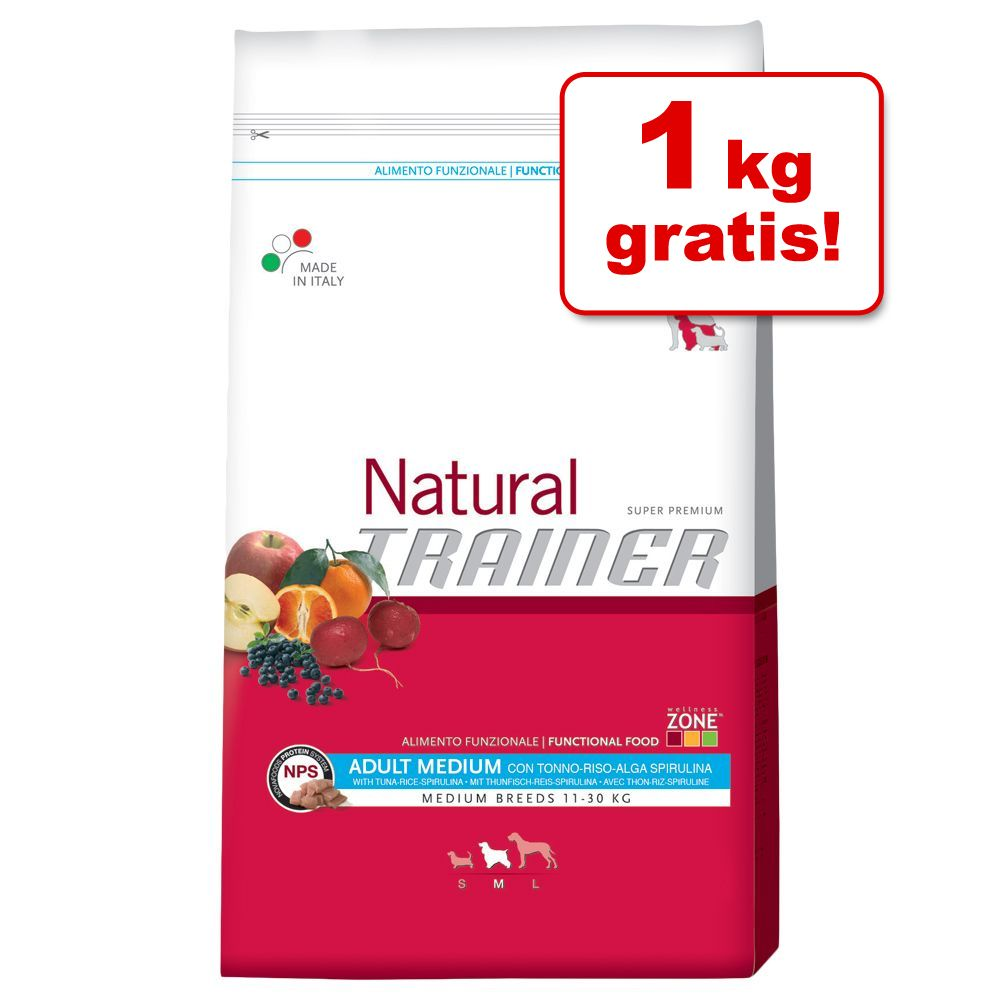 Foto 11,5 + 1 kg gratis! 12,5 kg Trainer Natural - Adult Medium Prosciutto Crudo