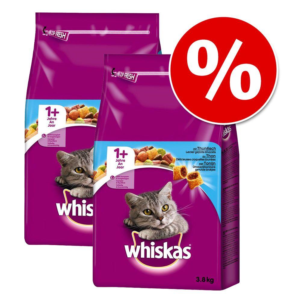 2 x 3,8 kg Whiskas 1+ w super cenie! - Pakiet mieszany z kurczakiem i z jagnięciną