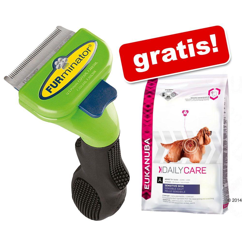 Oryginalny FURminator + 2,3 kg Eukanuba Daily Care Sensitive Skin gratis! - Do krótkiej sierści L