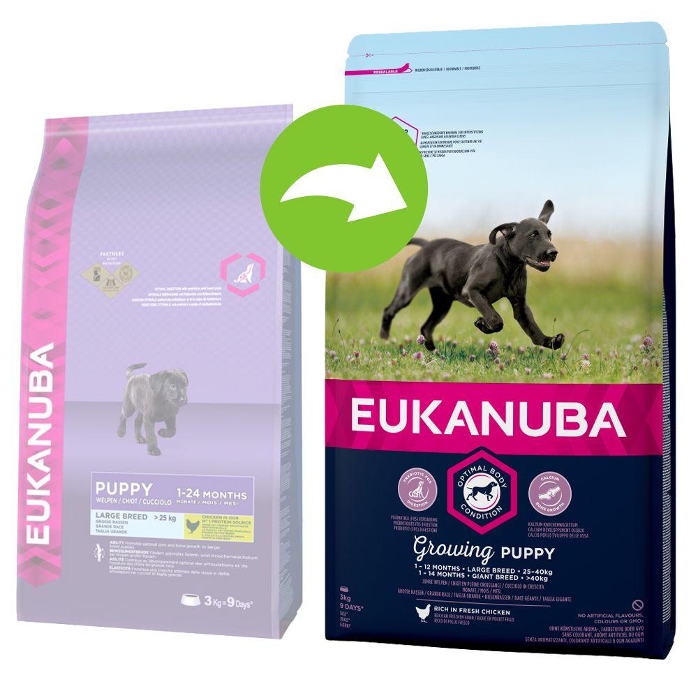 Image of Eukanuba Growing Puppy Large Breed Huhn - 15 kg