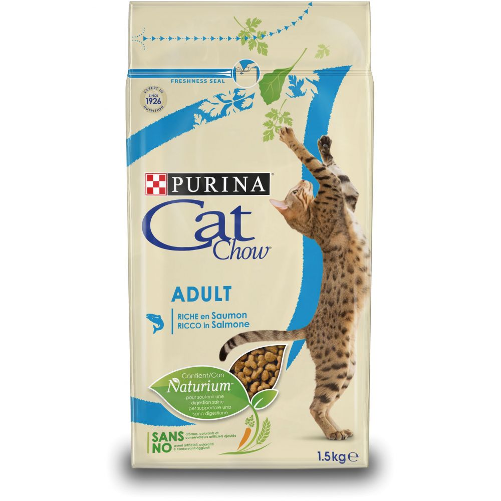 15kg Adult saumon thon Cat Chow - Croquettes pour Chat