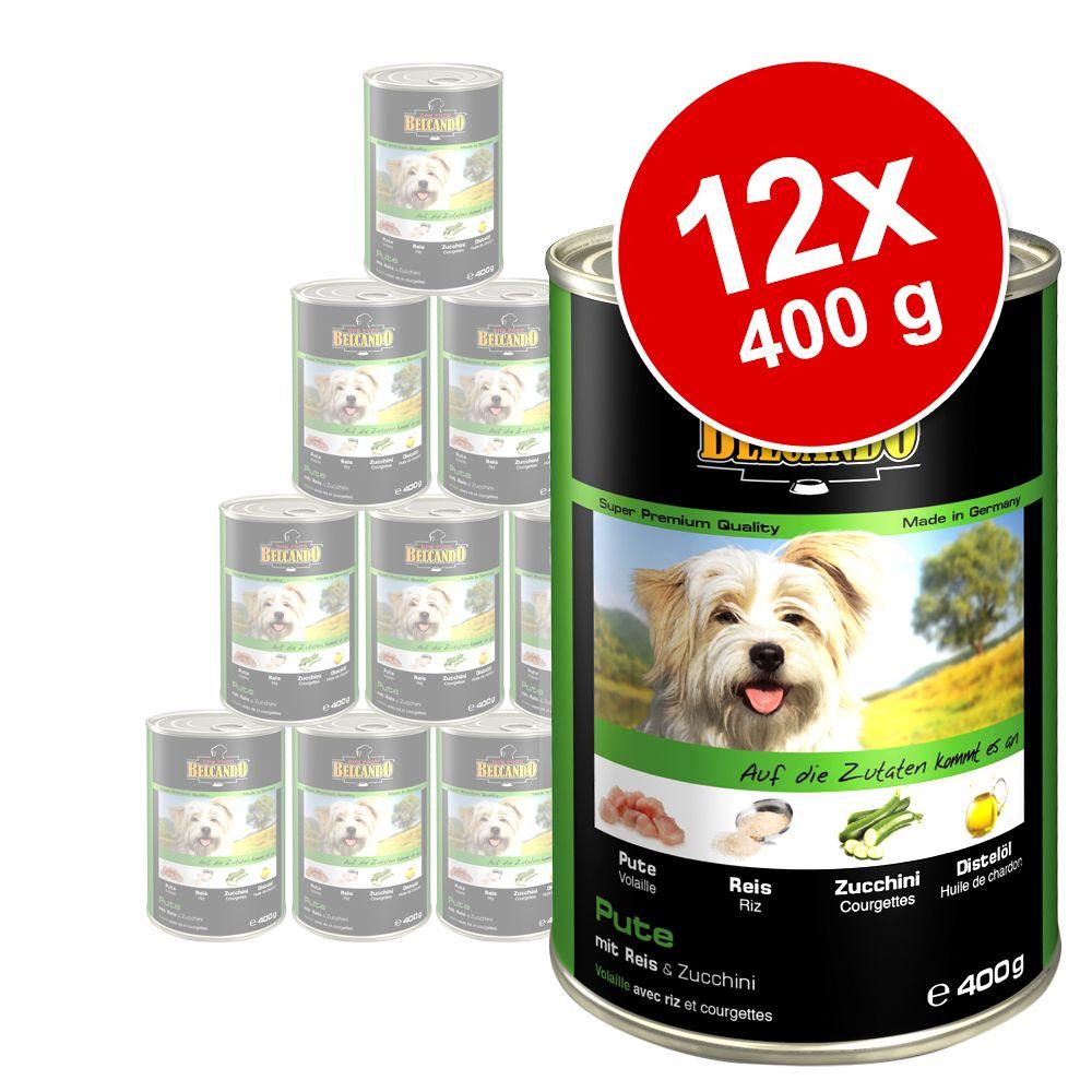 Belcando Super Premium 12 x 400 g - Huhn & Ente mit Hirse & Karotten