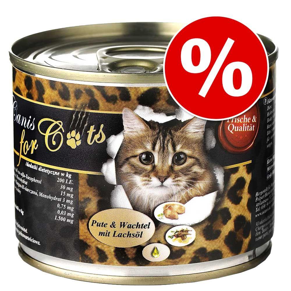 12 x 200 g O'Canis karma dla kota w super cenie! - Gęś, kurczak i olej szafranowy