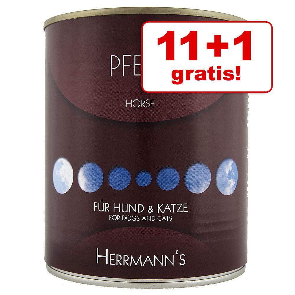 11 + 1 gratis! Herrmanns Konina karma uzupełniająca, 12 x 400 / 800 g - 12 x 800 g