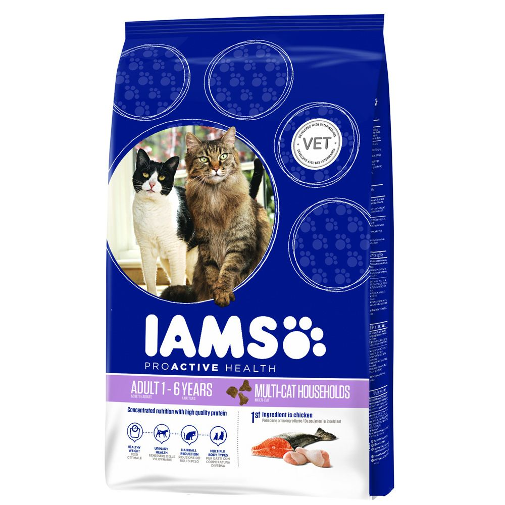 IAMS Pro Active Health Adult Multi-Cat Household pour chat - 15 kg