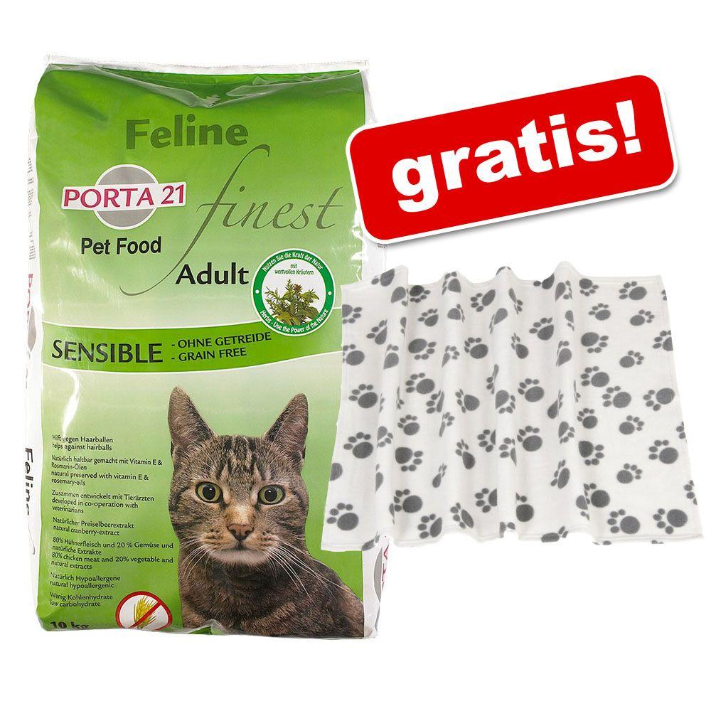 10 kg Porta 21 + Pawty kocyk z polaru gratis! - Holistic Cat, kurczak i ryż