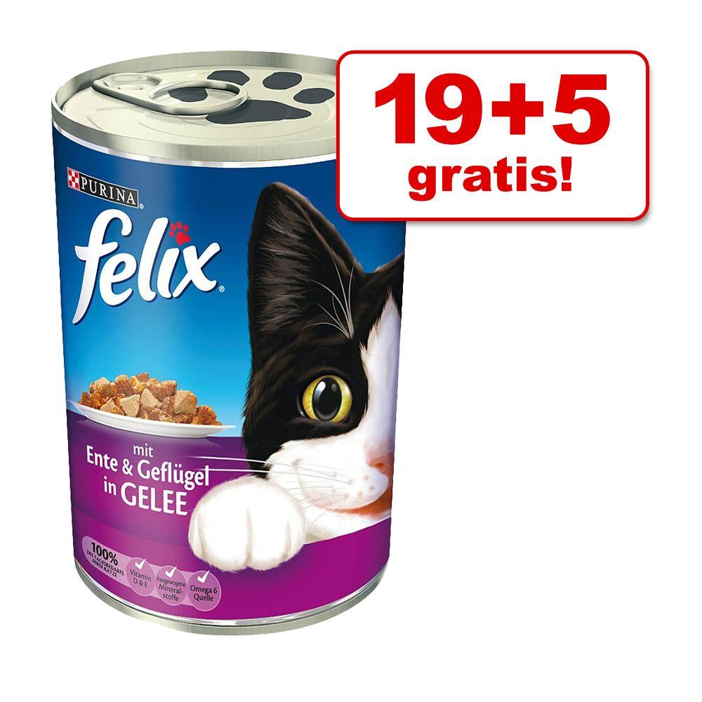 19 + 5 gratis! Felix w puszkach, 24 x 400 g - Pakiet galareta-sos