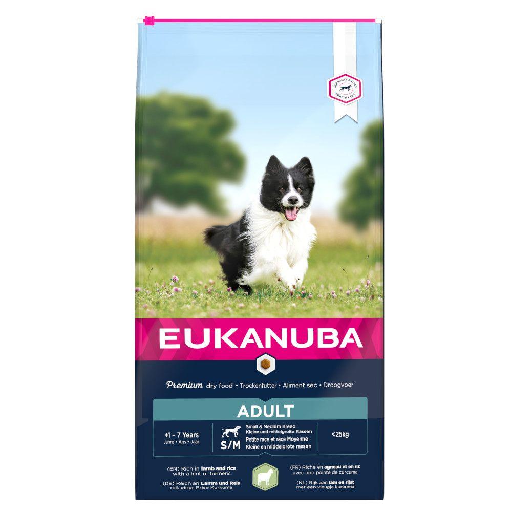 Eukanuba Small & Medium Breed Adult - Lamb & Rice - 12kg