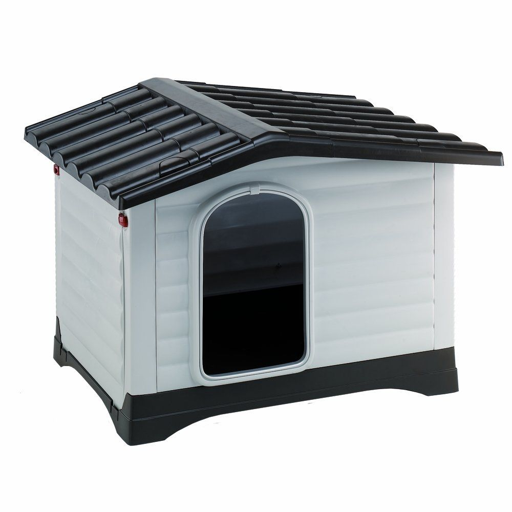 This plastic Dogvilla dog kennel from Ferplast is a great place for your dog to get away from it all: the plastic material is ideal for dogs with allergies, as the...