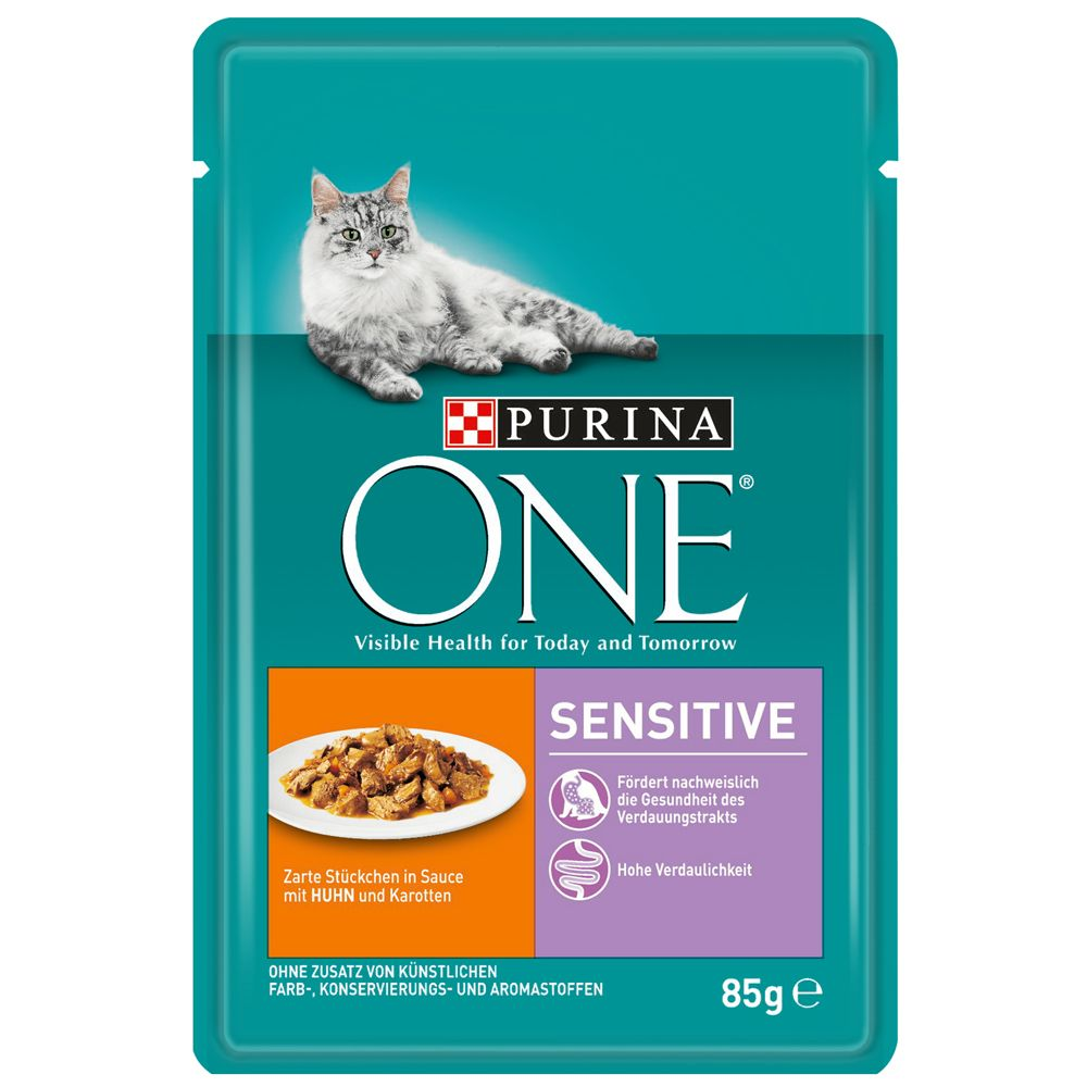 Chicken & Carrots Purina ONE Sensitive Wet Cat Food