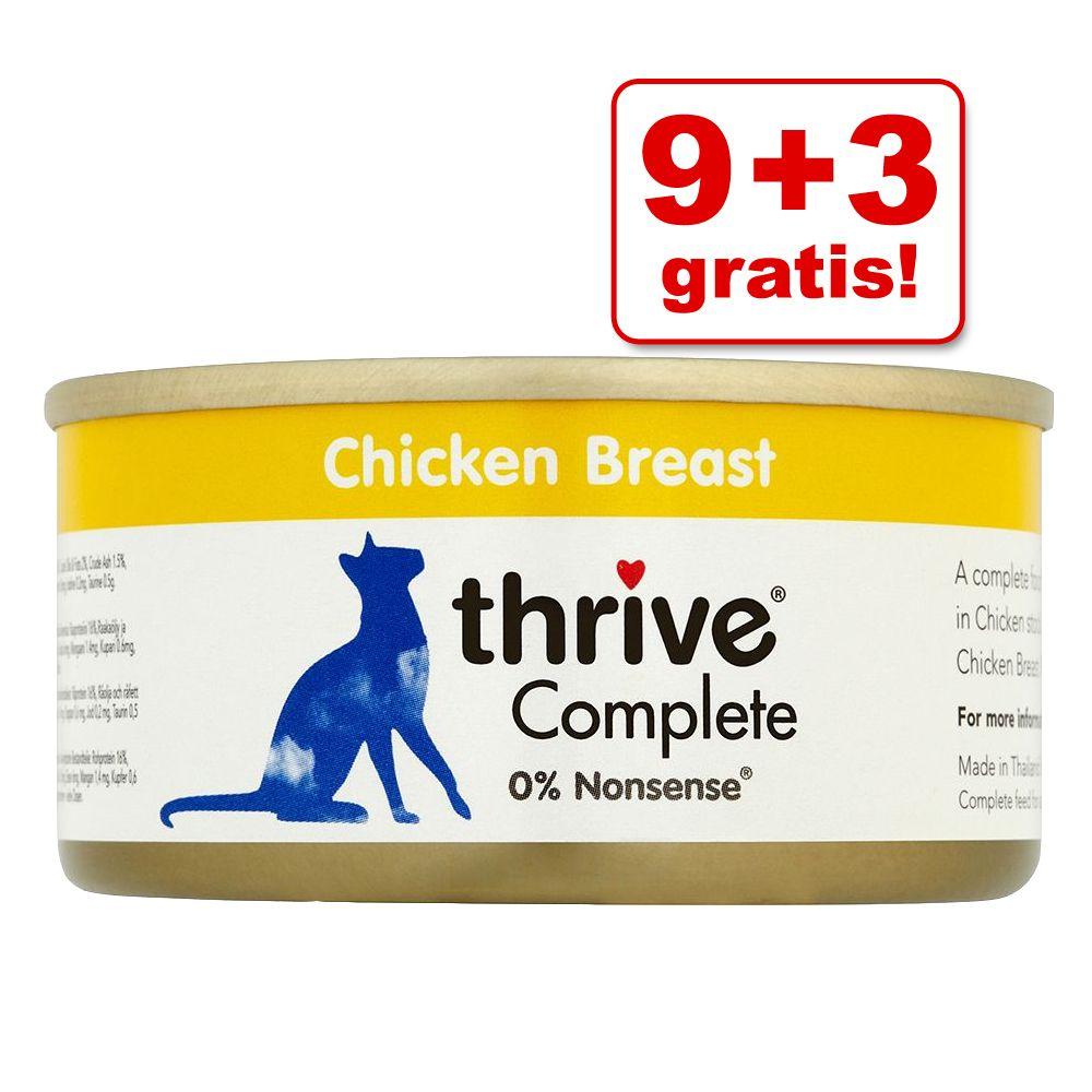 9 + 3 gratis! 12 x 75 g Thrive Complete - Thunfischfilet