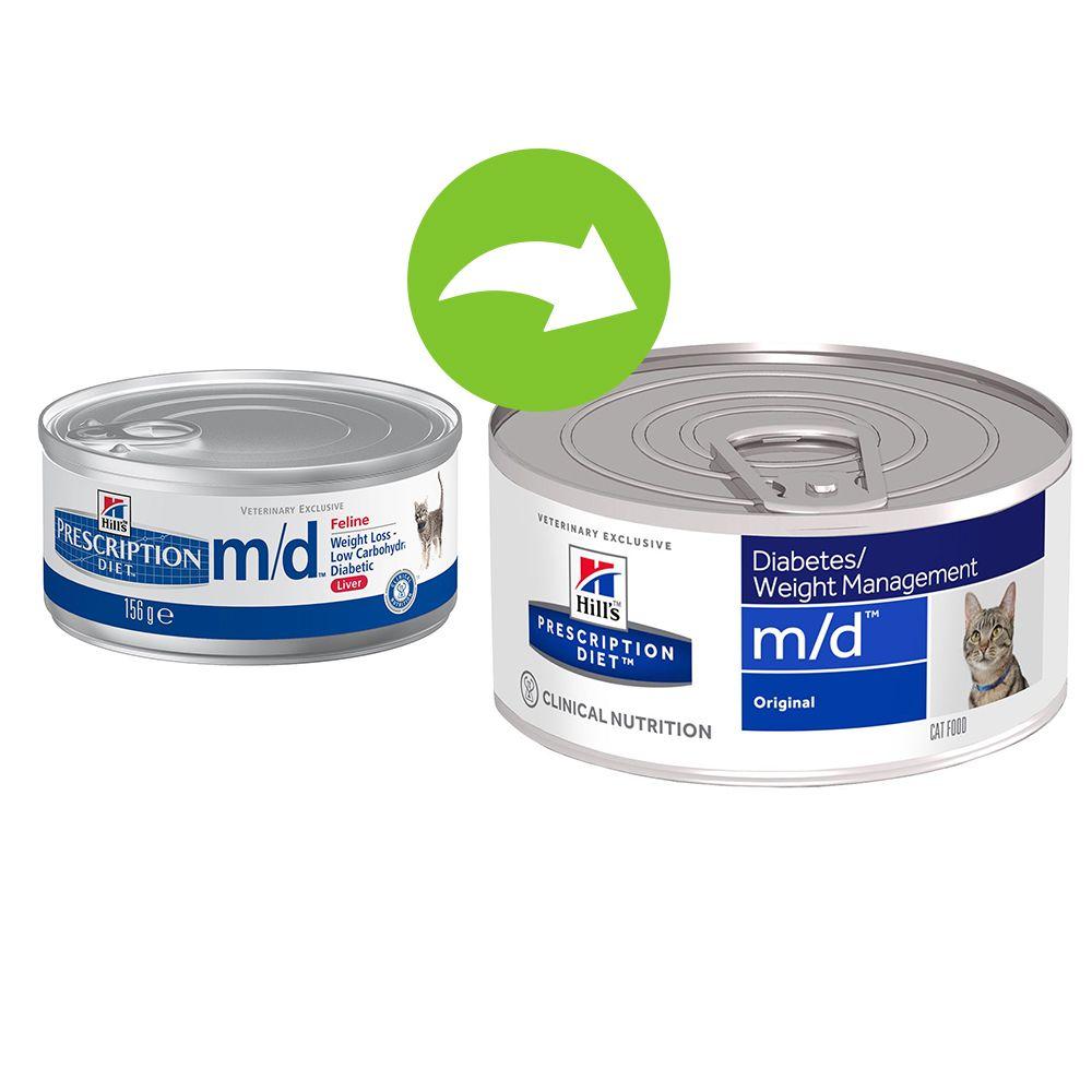 Foto Hill's m/d Prescription Diet Feline umido - 24 x 156 g - prezzo top! Hill's Prescription Diet Diabete e sovrappeso