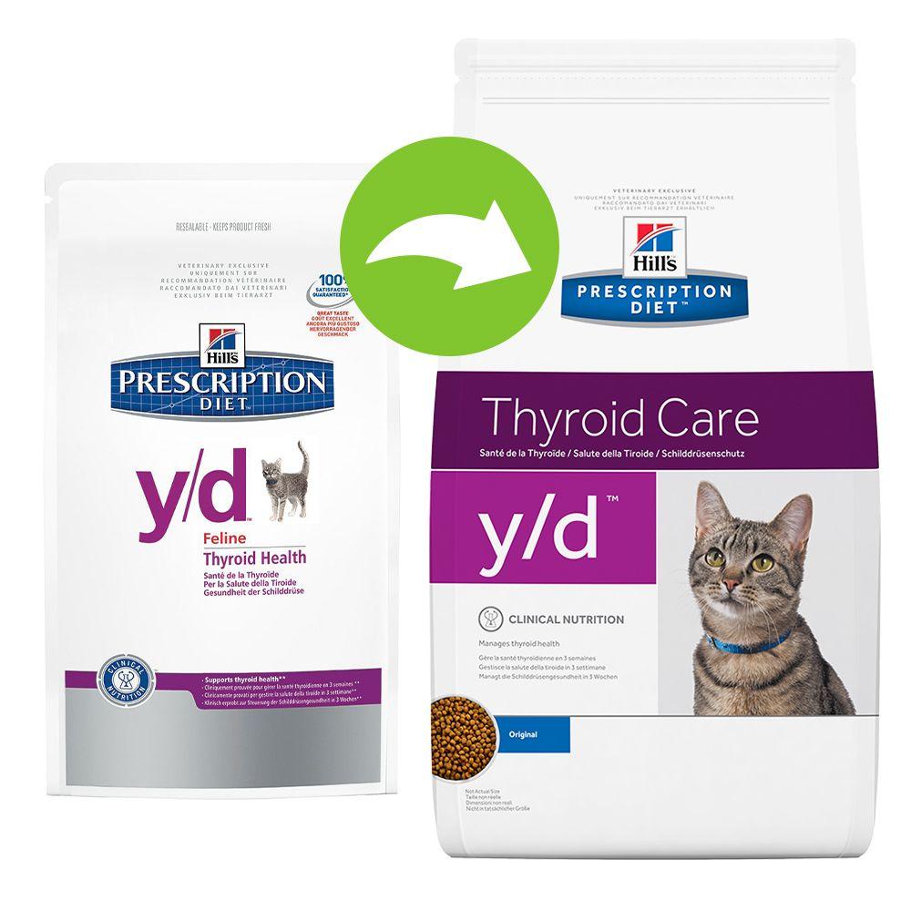 Foto Hill's y/d Prescription Diet Feline - secco - % 2 x 5 kg Hill's Prescription Diet Tiroide