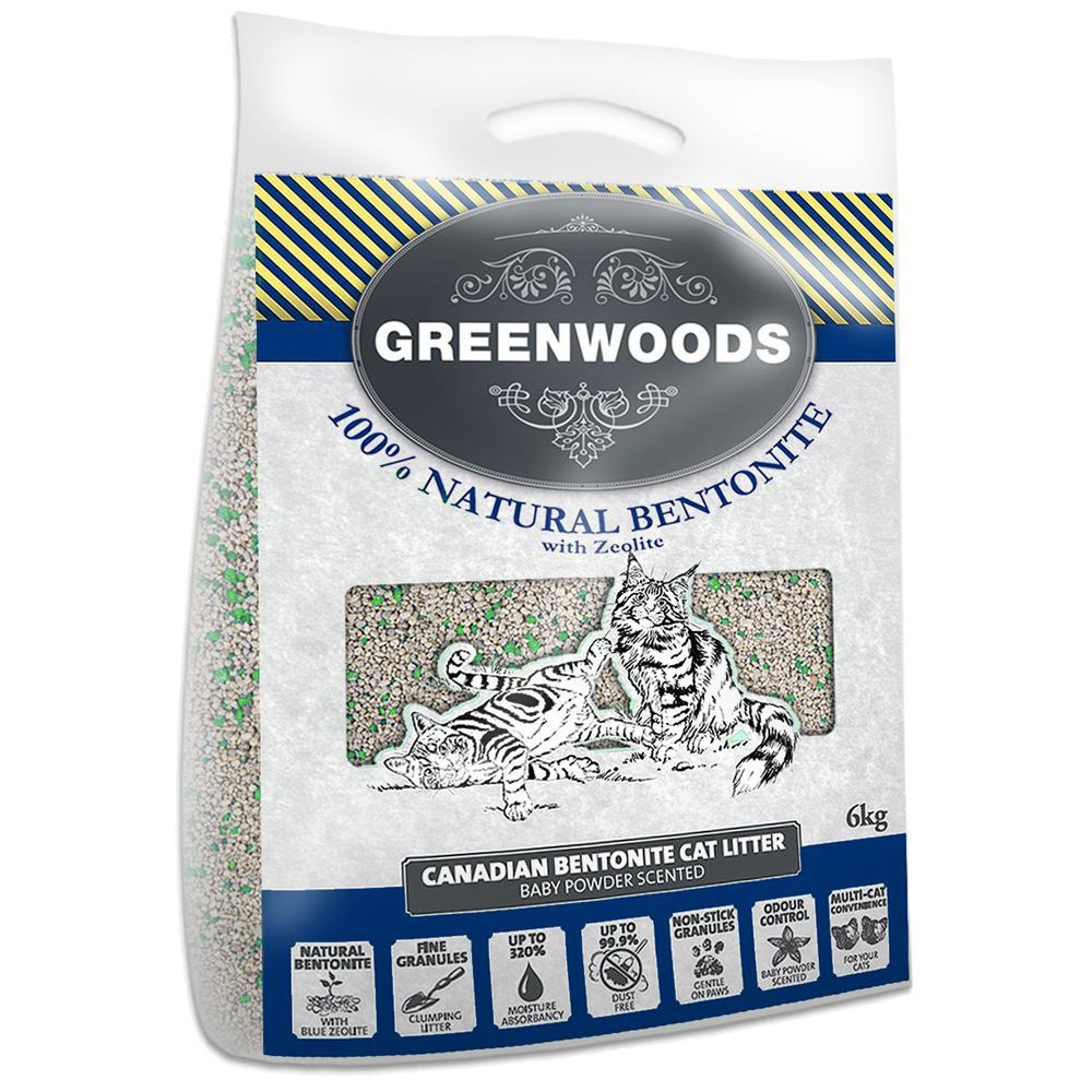 Natural Clay with Zeolite Greenwoods Clumping Cat Litter