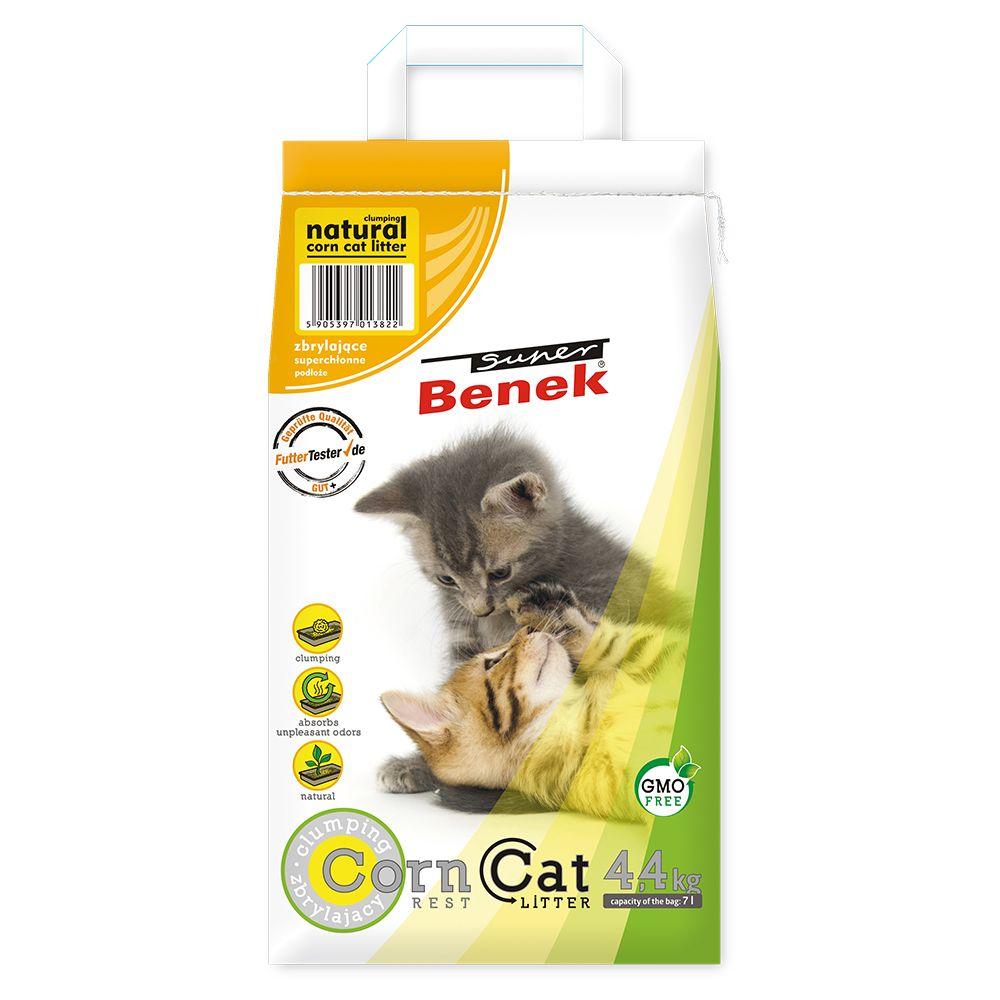 24 kg Litière Super Benek Corn Cat Natural pour chat