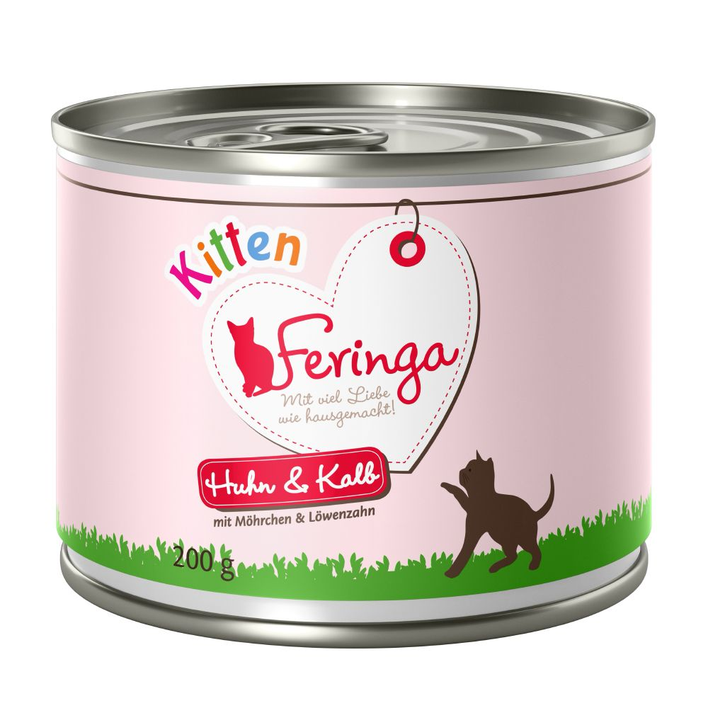 Feringa Kitten 6 x 200 g - Kyckling & kalv