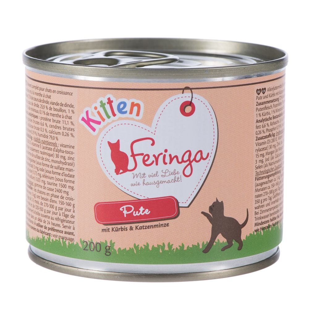 Feringa Menu Kitten Saver Pack 24 x 200g - Turkey