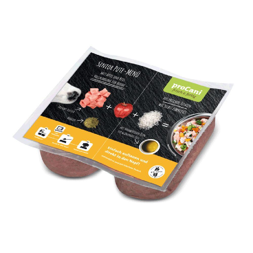 proCani BARF Senior Puten Menü mit Apfel und Reis - 20 x 2 x 200 g