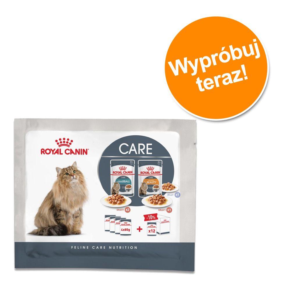 Mieszany pakiet próbny Royal Canin Hairball & Intense Beauty, 4 x 85 g - 4 x 85 g (3 rodzaje karmy)
