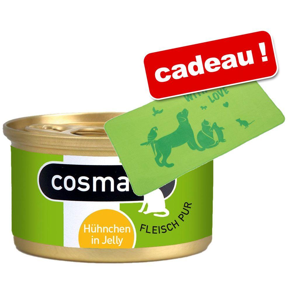 Cosma Original en gelée 24 x 85 g + couverture With Love offerte - lot mixte, 2 saveurs