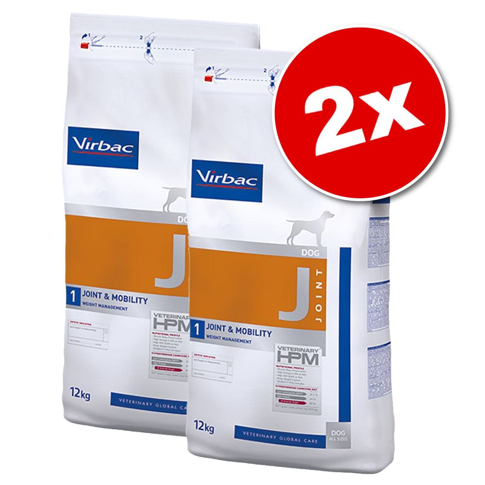 2x12kg Virbac Veterinary HPM Dog Joint & Mobility J1 - Croquettes pour chien