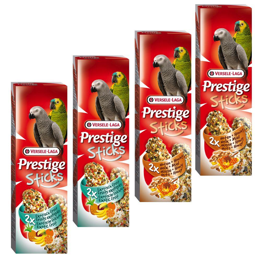 Mixed Pack Versele-Laga Prestige Sticks Papageien - 4 x 2 Sticks (560g)