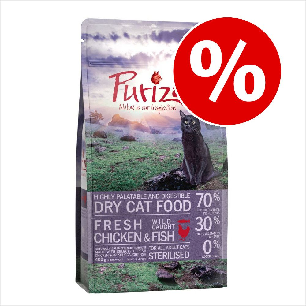 400 g Purizon torrfoder för katt till lågt prova-på-pris! - Adult Chicken & Fish